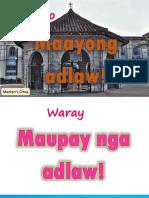 Magandang Araw sa Iba't Ibang Wika