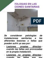 PATOLOGÍAS EN LAS INSTALACIONES SANITARIAS