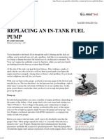 Popular Mechanics - Replacing an in-Tank Fuel Pump