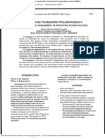 Work and Teamwork Transparency