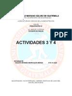 Actividades de La Unidad 3 y 4 Del Disco de Ingles. Curso de Principiantes IV