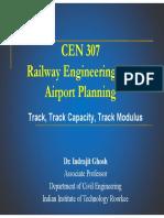 Lectut CEN-307 PDF CEN 307 Track Track Capacity Track Modulus Lecture 3