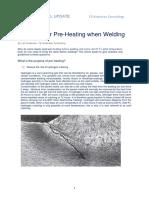 Need of Pre heating when welding