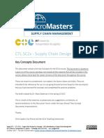 MITx SCx Supply Chain design