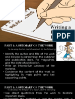 Guide for Writing a Reaction Paper