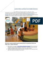 Safety Tips for Preschool that can Help You in Right Selection
