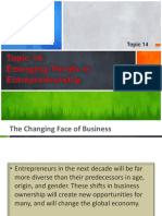 Topic 14 - Emerging Trends in Entrepreneurship