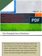 Topic 14 - Emerging Trends in Entrepreneurship