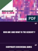 james geek out marketing