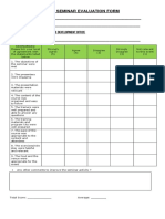 Training Evaluation Form Mprm