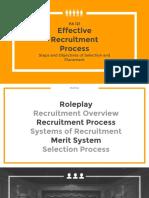 Recruitment in Public :Personnel Administration