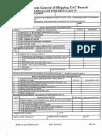 Checklist of MEO Class IV