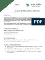 Financial Analyst (International Process)