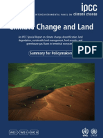 IPCC Climate Change report - summary for policymakers