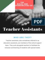 role of teacher assistants -eunice ho