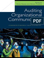 Auditing Organizational Communication a Handbook of Research - 2nd Edition