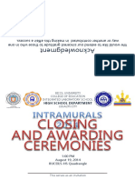Closing Programme