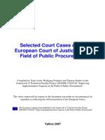 ECJ case law - public procurement