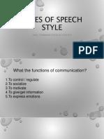 speech styles 2