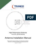 Trango Antenna User Manual ADXX XX SX 1 and 2 Ft Diam