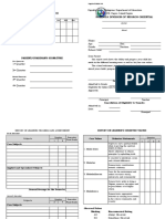 Deped Form 138-Shs