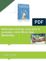 WhatsApp Marketing Strategies