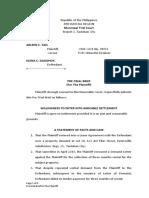 Pre Trial Brief Plaintiff
