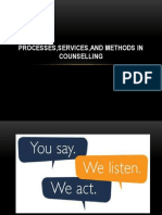 Processes,Services,And Methods in Counselling