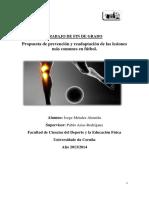 TFG Propuesta de Prevención y Readaptación de Las Lesiones Futbol