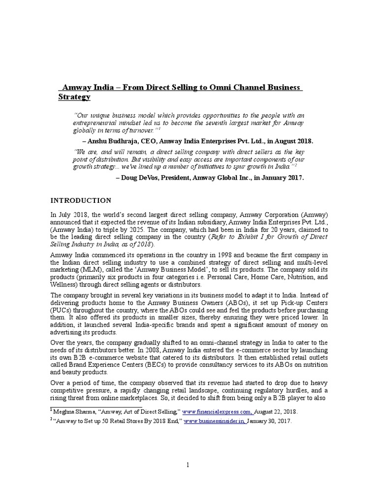 Amway Onmichannel Strategy Multi Level Marketing Retail