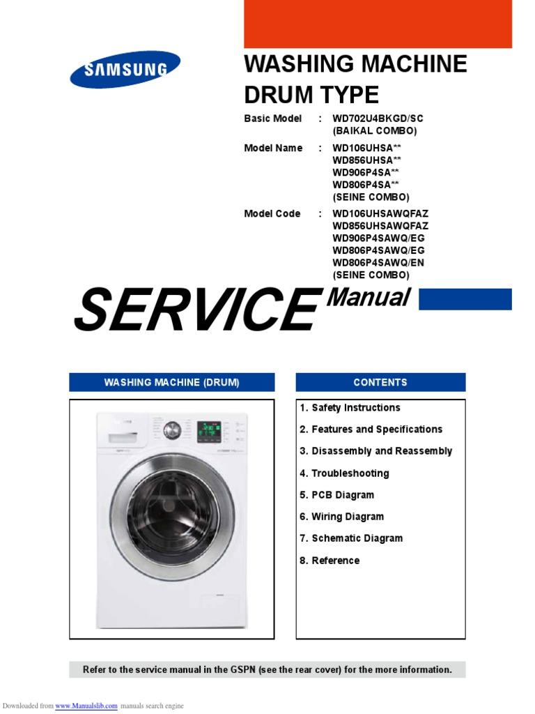 Wd106uhsa Series Washing Machine Ac Power Plugs And Sockets