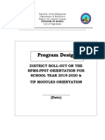 Program Design Rpms Ppst