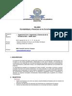 Silabo Contabilidad y Finanzas-2019-01-Ingenieria Civil y Gerencia de La Construccion-Jaen