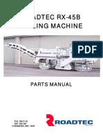 RX-45B Parts Manual Rev. E SN 154-162