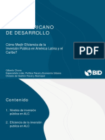 Cómo Medir Eficiencia de la Inversión Pública en América Latina y el Caribe?