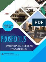 Evening Prospectus 2019 20