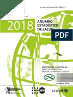 Anuario estadístico de salud