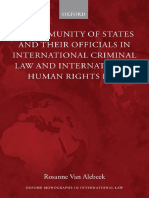 (Oxford Monographs in International Law) Alebeek, Rosanne Van - The Immunity of States and Their Officials in International Criminal Law and International Human-Oxford University Press USA (2008)