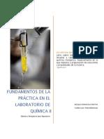 Fundamentos de las practicas de laboratorio Quimca II
