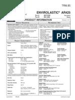 Envirolastic AR 425 Data Page