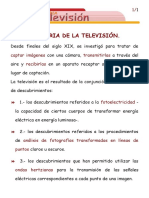Historia Mundial de La Tv.diapositivas. 1920