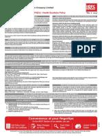 Health Suraksha Insurance Faqs Policy Wording