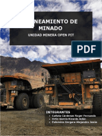 Planeamiento de Minado-unidad Minera Open Pit