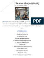 CD Grandes Duetos Gospel (2018) Torrent Grátis 632 MB