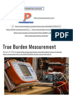 True Burden Measurement - Powermetrix