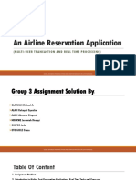 An Airline Reservation Application