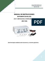 Manual de usuario alta frecuencia F-803
