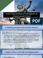 Seven Steps Method of Investigation of Environmental Crimes