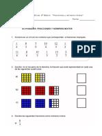 Guía Fracciones y números mixtos 6°