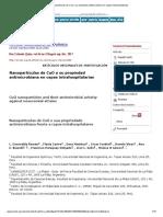 NanopartÃ_culas de CuO y su propiedad antimicrobiana en cepas intrahospitalarias